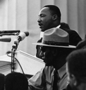 Dr. Martin Luther King intervjues av Erik Bye 1964